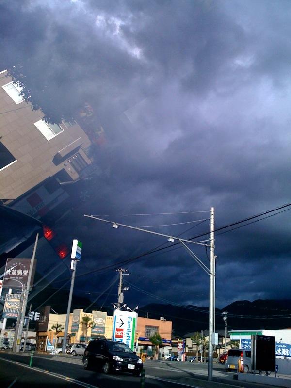 怪しい雲ゆき